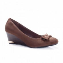 Pantofi Ornella maro cu platforma ortopedica