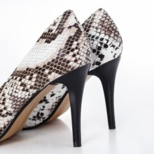 Pantofi Somany maro cu toc