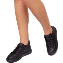 Pantofi sport dama Philomena cu sireturi groase Negru