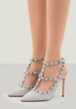 Pantofi Stiletto Zhenya Gri