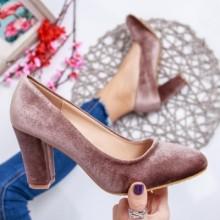 Pantofi Zadagan bej cu toc eleganti