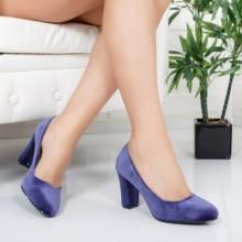 Pantofi Zadagan mov cu toc eleganti