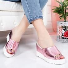 Papuci Katy roz cu platforma