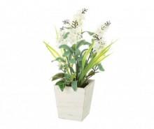 Planta artificiala in ghiveci Lavander White