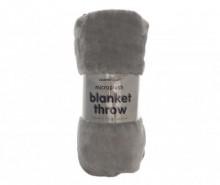Pled Pompom Grey 130x170 cm