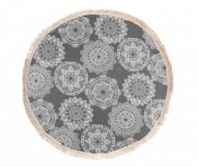 Prosop de baie Pestemal Lace Soft Charcoal 150 cm