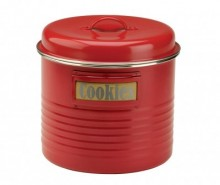 Recipient cu capac Vintage Kitchen Red