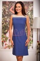 Rochie bleumarin eleganta din in