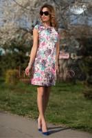 Rochie brocard cu imprimeu floral