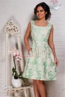 Rochie brocard imprimeu floral