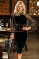 Rochie eleganta din catifea neagra