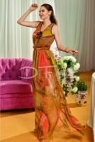 Rochie Moze Haven Lunga cu Imprimeu Oranj