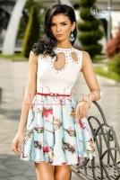 Rochie scurta cu imprimeu colorat