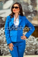 Sacou Anastasia Albastru Office de Zi