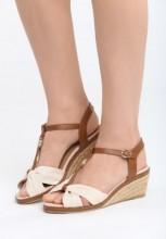 Sandale cu platforma Camopi Bej