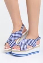Sandale cu platforma Velez Navy