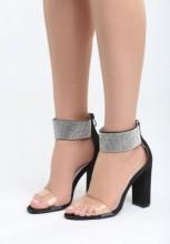 Sandale cu toc Amapa Negre