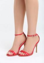 Sandale cu toc Espinaza Rosii