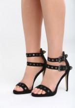 Sandale cu toc Macapa Negre