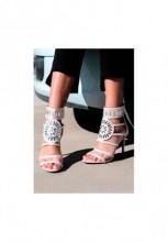 Sandale cu toc Noreia Bej
