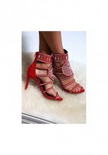 Sandale cu toc Noreia Rosii