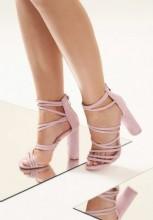 Sandale cu toc Roura Violet