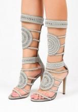 Sandale cu toc Sapri Gri