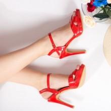Sandale Datisa rosii cu toc