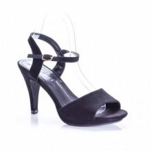 Sandale Karita negre cu toc