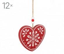 Set 12 decoratiuni suspendabile Amanda Heart