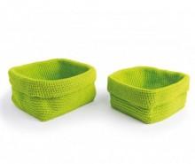 Set 2 cosuri Rectangular Green