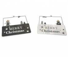 Set 2 decoratiuni suspendabile Marry Christmas