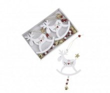 Set 2 decoratiuni suspendabile White Reindeer