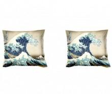Set 2 fete de perna Hokusai The Great Wave 40x40 cm