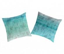Set 2 fete de perna Juine Aquamarine 65x65 cm
