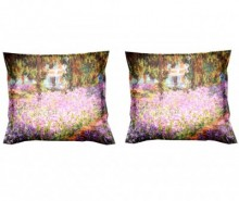 Set 2 fete de perna Monet Artist Garden 40x40 cm