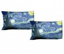 Set 2 fete de perna Van Gogh Starry Night 50x80 cm