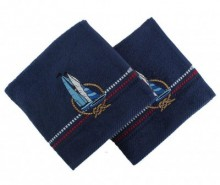 Set 2 prosoape de baie Ferry Blue 50x90 cm