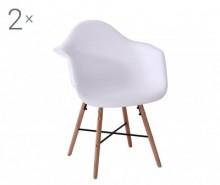 Set 2 scaune Coralie White