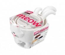 Set 3 cupe pentru masurat Meow White