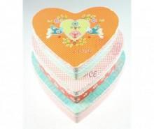 Set 3 cutii cu capac Hearts