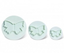 Set 3 decupatoare fondant Butterfly