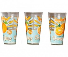 Set 3 pahare Vintage Orange 310 ml