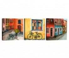 Set 3 tablouri City Vibe 30x30 cm