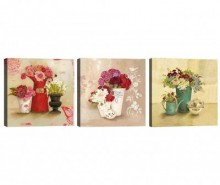 Set 3 tablouri Flower Vases 30x30 cm