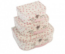 Set 3 valize decorative La Petite Rose