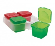 Set 4 caserole si suport Frozen Sauce & Herb
