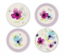 Set 4 coastere Chatsworth Floral Round