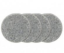 Set 4 coastere Silver Mosaic