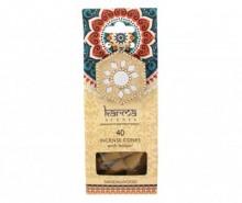 Set 40 conuri parfumate si suport Karma Sandalwood